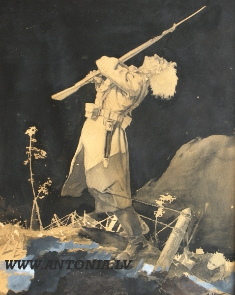 """Aleksandrs Krūka """"Latviešu strēlnieks"""""""