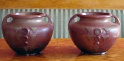 Vases with ornaments - pair - Pelshe Rudolfs