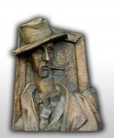 "Sculpture - A. Vilipsons ""Karlis Padegs. Memorial relief"" 13 700 EUR"
