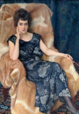 "Painting - N. Bogdanov-Belsky ""Portrait of a lady"" 160 000 EUR"
